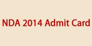 NDA 2014 Admit Card