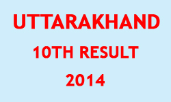 Uttarakhand 2014 Exam 10th Result Image