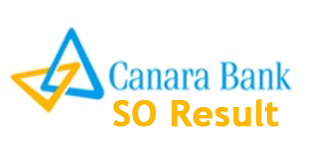 Canara Bank SO Result 2014