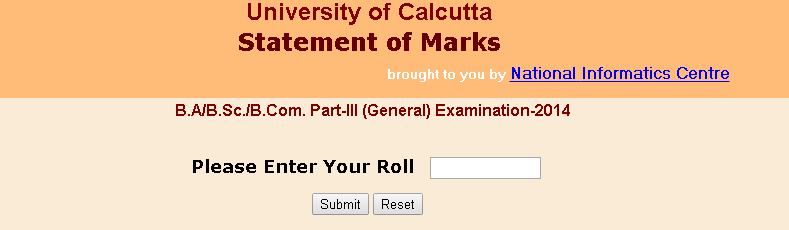 Calcutta University Results 2014 Part 3