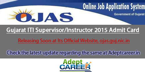 Gujarat ITI Supervisor/Instructor Hall Ticket