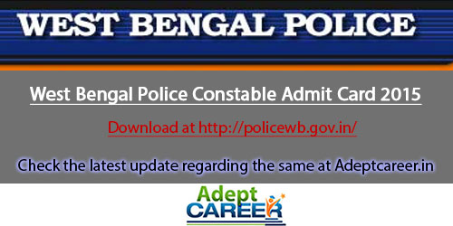 WB Police Constable Admit Card Download